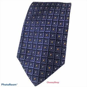 ROBERT TALBOTT Best of Class Blue Yellow Silk Tie